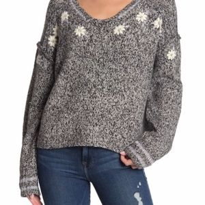 Wildfox flower field Lewis embroidered Sweater